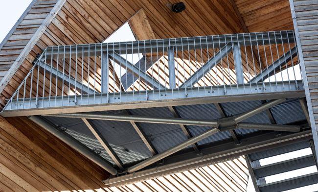 Osd tragwerk bildung kultur pavillon im for Stahlbau aussteifung